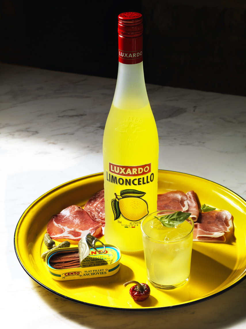Marx-food-photography-Cocktails_Luxardo_Charcuterie-anchovies-limoncello